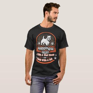 Camiseta La felicidad enciende el mojón mojado Terrier de