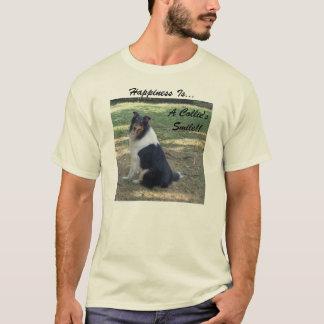 Camiseta La felicidad es. La sonrisa de un collie.