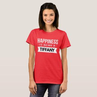 Camiseta La felicidad está siendo Tiffany