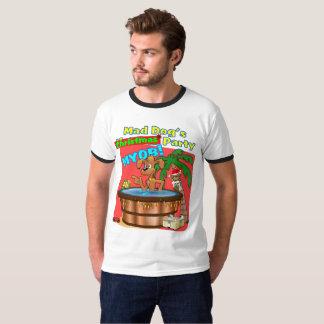 Camiseta La fiesta de Navidad del perro enojado