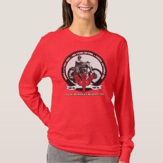 Camiseta La foto envuelta larga roja T de las señoras