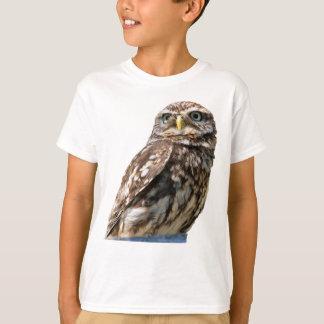 Camiseta La foto hermosa del pájaro del pequeño búho
