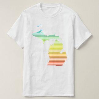 Camiseta la frialdad de Michigan se descolora