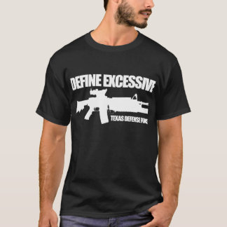 """Camiseta La fuerza de defensa de Tejas """"define"""" oscuridad"""