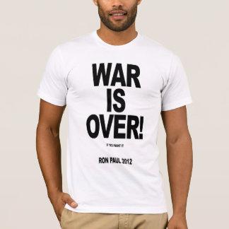 Camiseta ¡LA GUERRA HA TERMINADO! Voto Ron Paul 2012