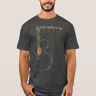 Camiseta La guitarra acústica divertida esté desplumando