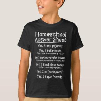 Camiseta La hoja de respuesta de Homeschool