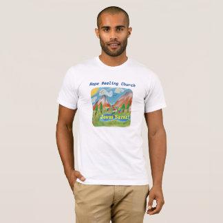 Camiseta La iglesia curativa Jesús de la esperanza ahorra