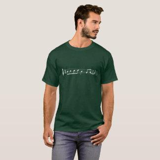 Camiseta La lamedura T, Clef agudo (camisa oscura,