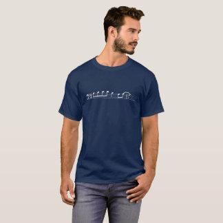 Camiseta La lamedura T, Clef bajo (camisa oscura, impresión