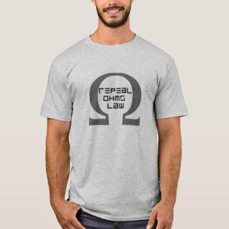 Camiseta La ley de ohmio de la derogación