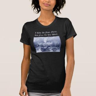 Camiseta La libertad monta libre para mujer como el lobo