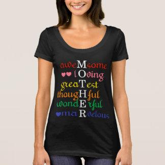 Camiseta La madre Impresionante-Cariñoso-Más grande en