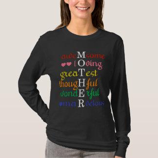 Camiseta La madre Impresionante-Cariñoso-Más grande en arco