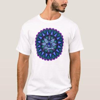 Camiseta La mandala de Buda de la luz de la tarde