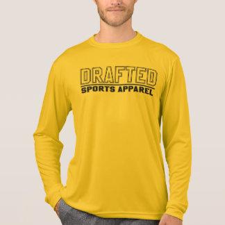 Camiseta La manga larga de los deportes de los hombres