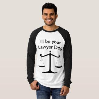 Camiseta La manga larga de los hombres del perro del