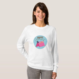 Camiseta La manga larga Shi de las mujeres bohemias de la