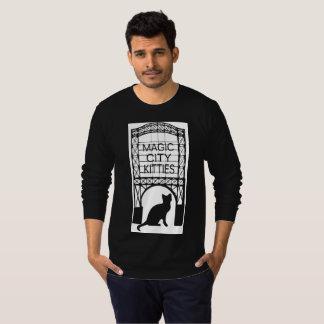 Camiseta La manga larga T de la ciudad de los hombres
