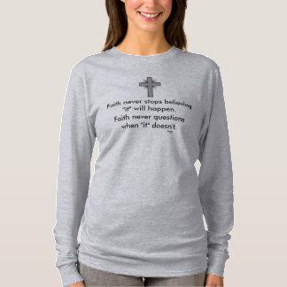 Camiseta La manga nunca larga w/Grey de la fe señaló por