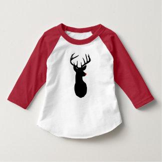Camiseta La mayoría del reno famoso de todo el raglán del