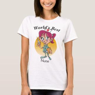 Camiseta La mejor enfermera del mundo