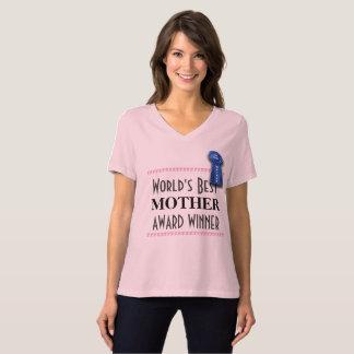 Camiseta La mejor madre del mundo con Blue Ribbon