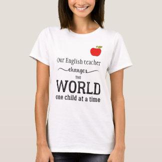 Camiseta La mejor manzana de la cita de la tipografía del