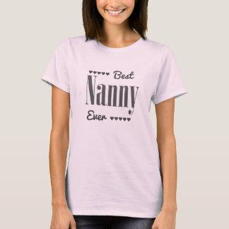 Camiseta La mejor niñera nunca