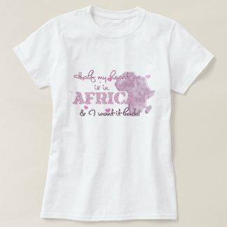 Camiseta La mitad de mi corazón está en África
