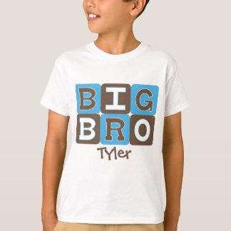 Camiseta La MOD bloquea Bro grande - azul y Brown