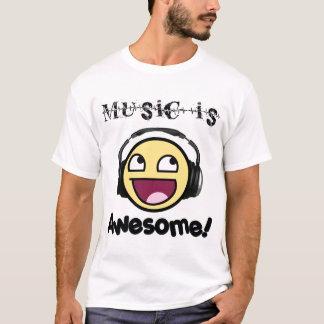 Camiseta ¡La música es impresionante! Smiley (la luz de los