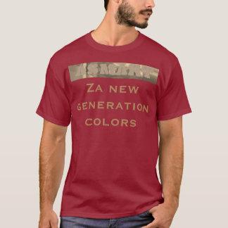 Camiseta La nueva generación de Za colorea diseño urbano