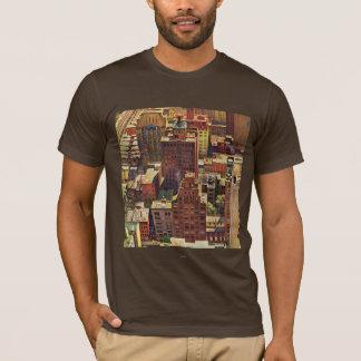 Camiseta La opinión del Pájaro-Ojo de New York City de Juan
