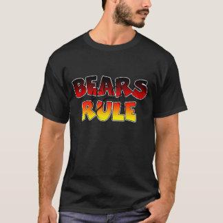Camiseta La pata de oso del orgullo del oso lleva regla