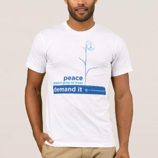 Camiseta La paz no crece en árboles