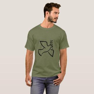 Camiseta La paz se zambulló con la rama de olivo