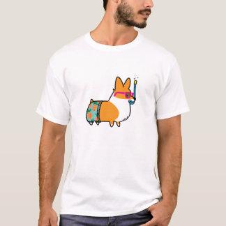 Camiseta La piña del Corgi del verano pone en cortocircuito