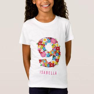 Camiseta La primavera florece fiesta de cumpleaños del