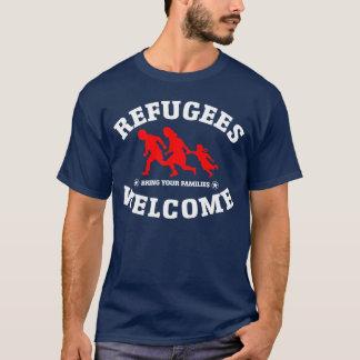 Camiseta La recepción de los refugiados trae a sus familias