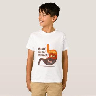Camiseta La respiración de la bebida de la comida de los