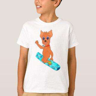 Camiseta La ropa del muchacho fresco - snowboard feliz