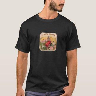 Camiseta La Rosa Cubana Diseño Vintage Cuba