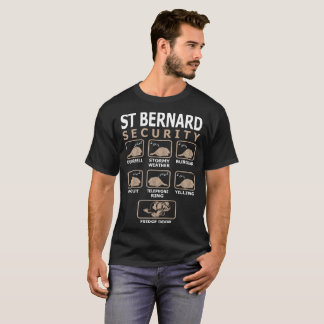 Camiseta La seguridad del perro de St Bernard acaricia la
