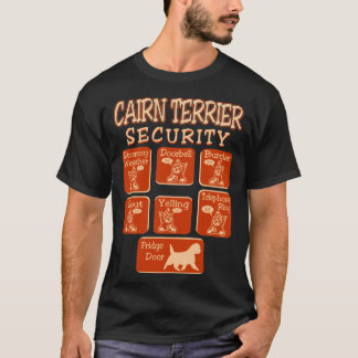 Camiseta La seguridad del perro de Terrier de mojón