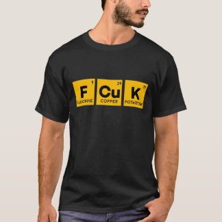 Camiseta La tabla periódica y YO de FCUK NO DAMOS una
