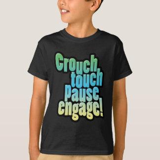 Camiseta La unión del rugbi se agacha pausa del tacto