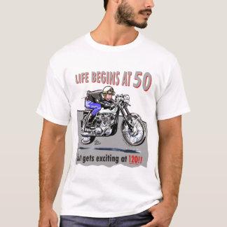 Camiseta ¡La vida comienza en 50, pero consigue emocionante