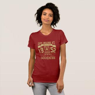 Camiseta La vida comienza en sesenta y cinco 1952 a la