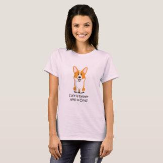 Camiseta La vida es mejor con un Corgi